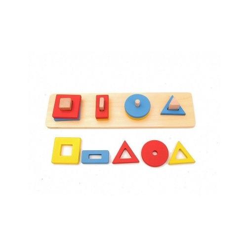 Vkládání tvarů na kolíčky - 4 tvary III.stupeň