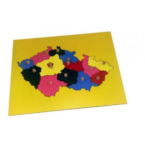 Puzzle mapa Česká republika