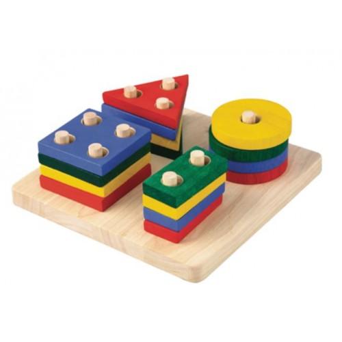 Deska s geometrickými tvary