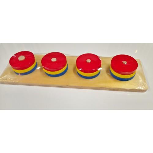 Vkládání tvarů na kolíčky - 4 tvary II.stupeň