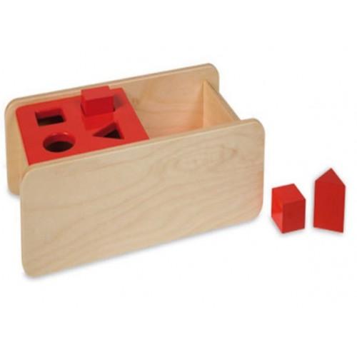Skříňka na 4 tvary s překlopným víkem