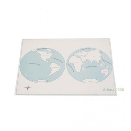 Kontrolní mapa světadíly