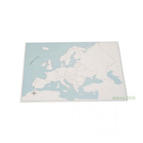 Kontrolní mapa Evropa - slepá