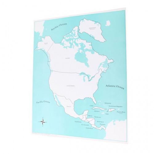 Kontrolní mapa Severní Amerika