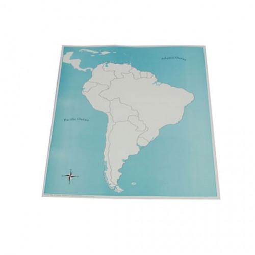 Kontrolní mapa Jižní Amerika - slepá