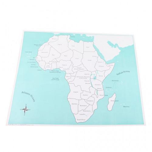 Kontrolní mapa Afrika