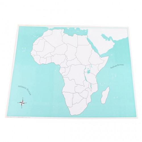 Kontrolní mapa Afrika - slepá