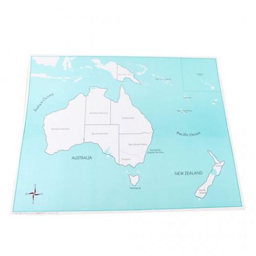 Kontrolní mapa Austrálie
