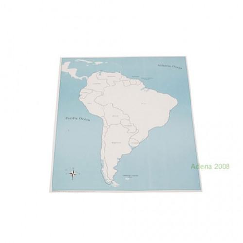Kontrolní mapa Jižní Amerika