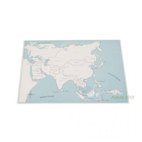 Kontrolní mapa Asie