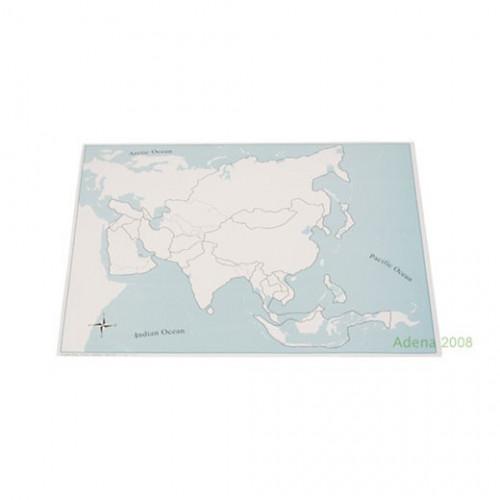 Kontrolní mapa Asie - slepá