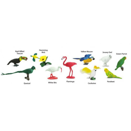 Exotické ptactvo - tuba Safari Ltd nové balení