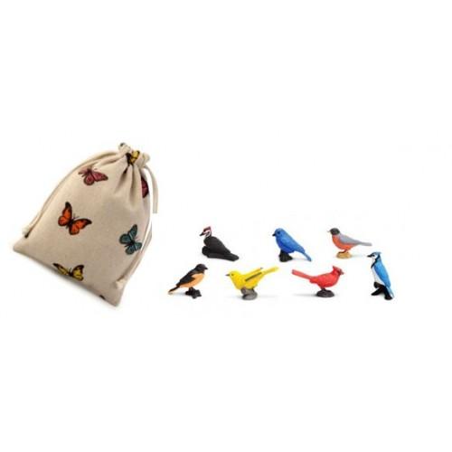 Ptáci - Safari Ltd (balení v lněném pytlíku)