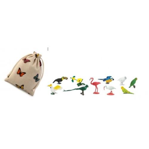 Exotické ptactvo - Safari Ltd (balení v lněném pytlíku)
