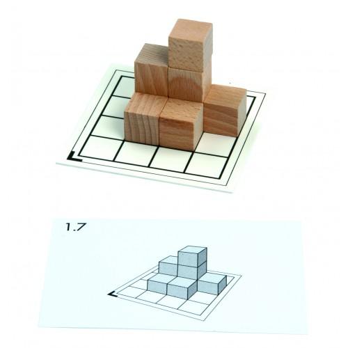 Pracovní karty k dřevěným kostkám - set 1