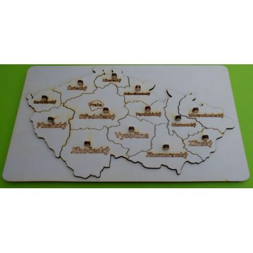 Puzzle mapa Česká republika (2 vrstvy)
