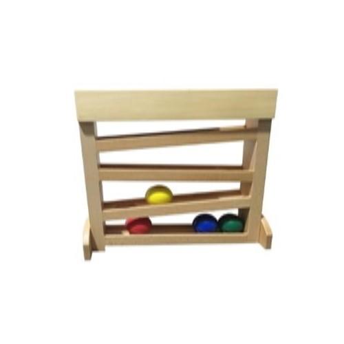 Dřevěná dráha pro míčky