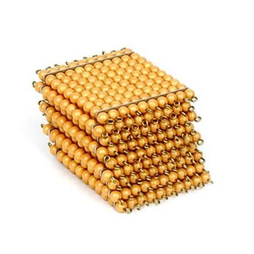 """9 Zlatých perlových """"stovkových"""" čtverců"""