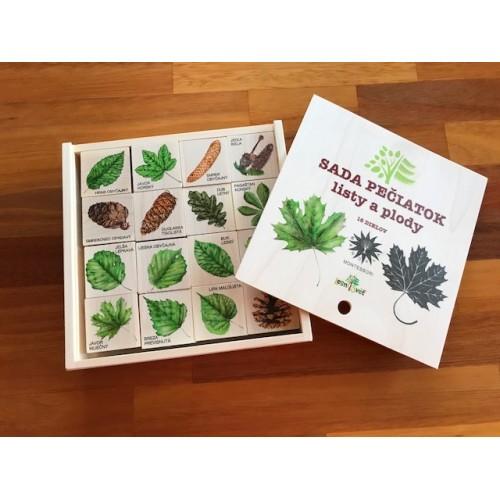 Listy a plody - sada pečiatok