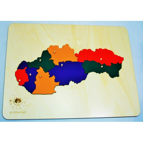 Puzzle mapa Slovenská republika