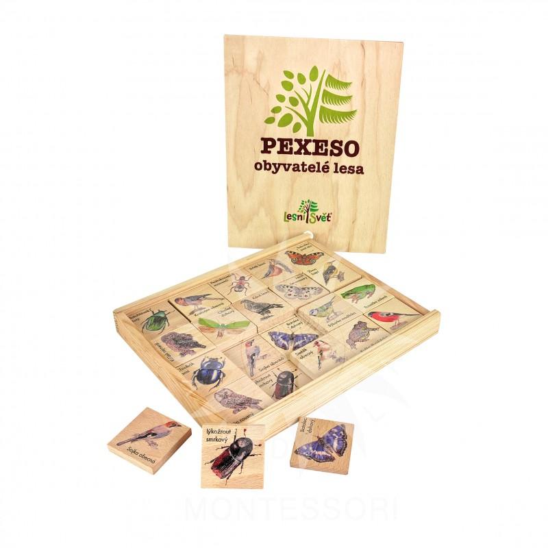 Edukační pexeso - obyvatelé lesa