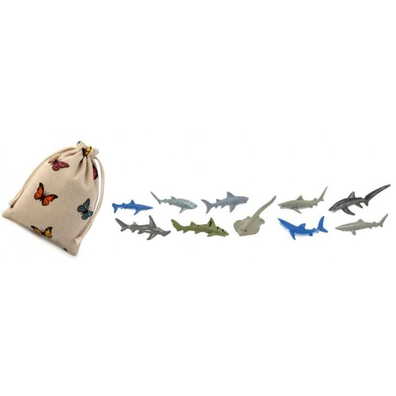 Žraloci - Safari Ltd (balení v lněném pytlíku)