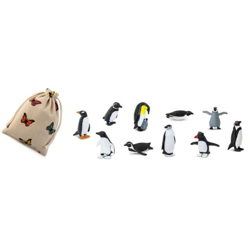 Tučňáci - Safari Ltd (balení v lněném pytlíku)