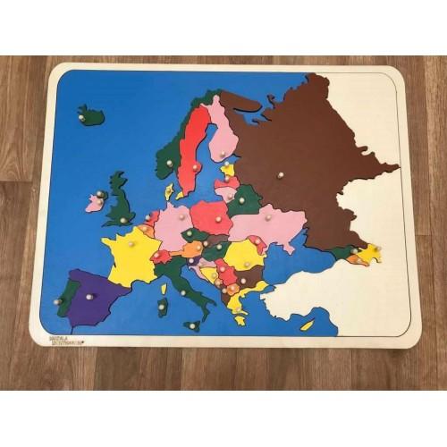 Puzzle mapa Evropa