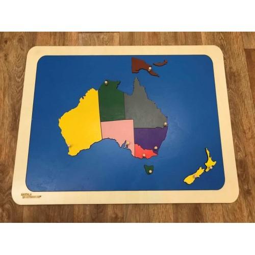 Puzzle mapa Austrálie