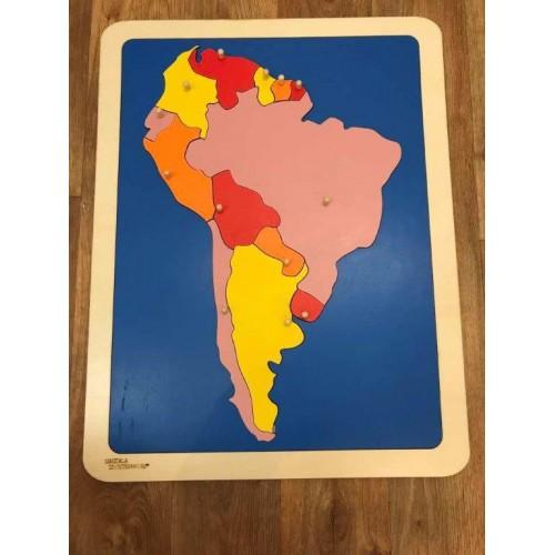 Puzzle mapa Jižní Amerika