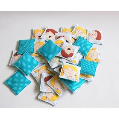 Textilní pexesá 16 párů - EQ