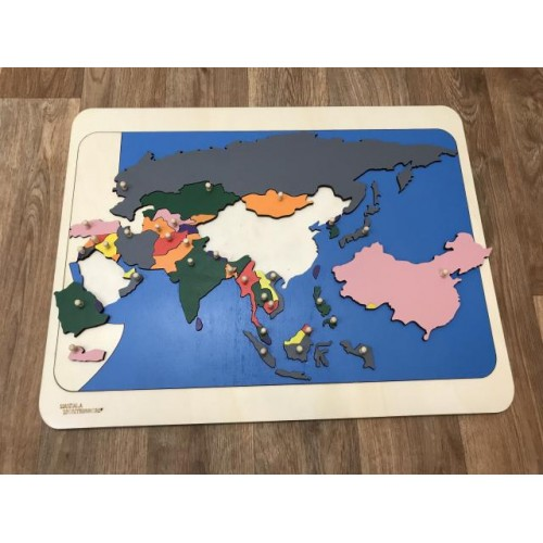 Puzzle mapa Asie
