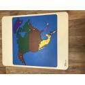 Puzzle mapa Severní Amerika