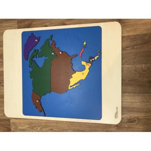 Puzzle mapa Afrika