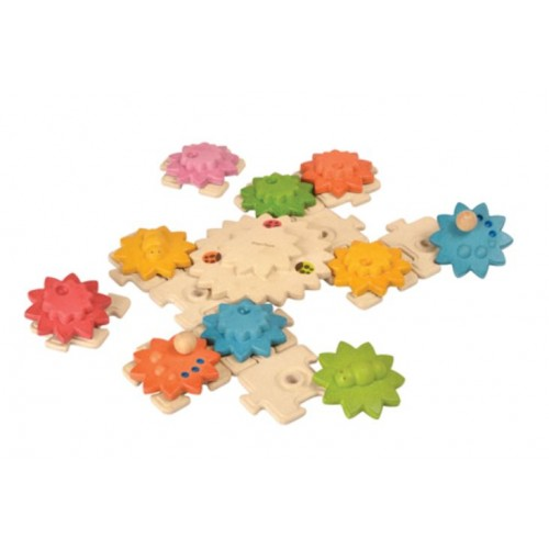Ozubené kolesá a puzzle - deluxe