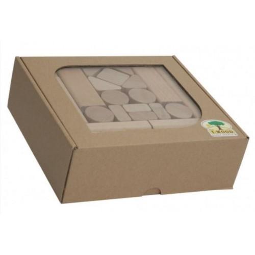 Dřevěné kostky - 50 ks
