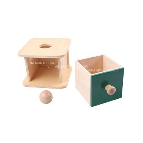 Box for inserting a wooden ball