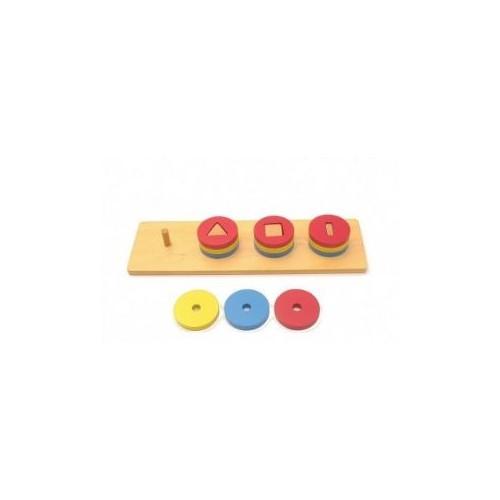 Vkládání tvarů na kolíčky - 4 tvary IV.stupeň