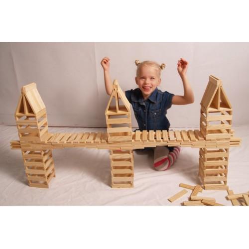 Dřevěná stavebnice City Blocks - 150ks hranolů
