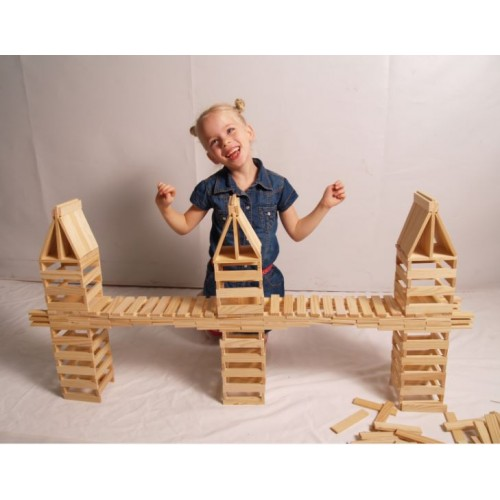 Drevená stavebnica City Blocks - 300ks hranolov