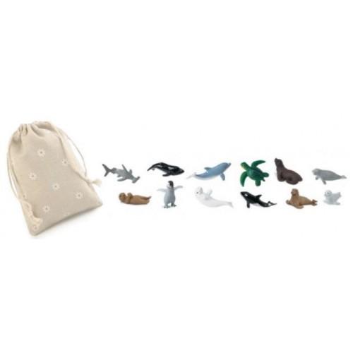 Mláďata mořských živočichů - Safari Ltd - (balení v lněném pytlíku)