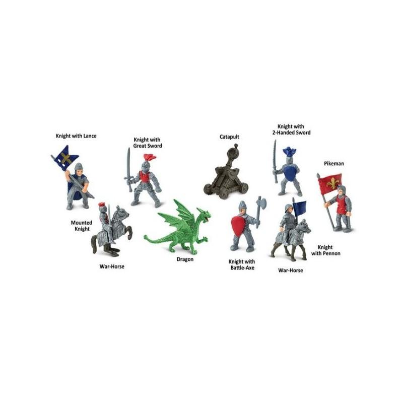 Rytíři a draci - Safari Ltd (balení v lněném pytlíku)