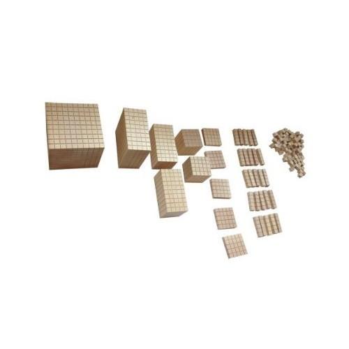 Dřevěný krychlový materiál - malý - pětková řada