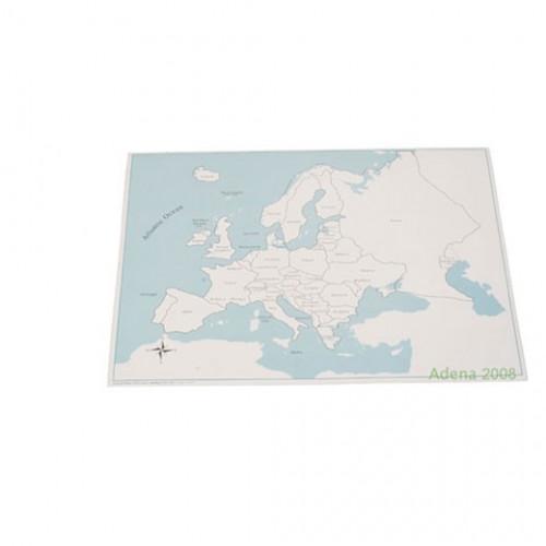 Kontrolní mapa Evropa