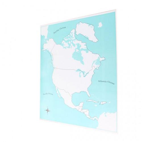 Kontrolní mapa Severní Amerika - slepá