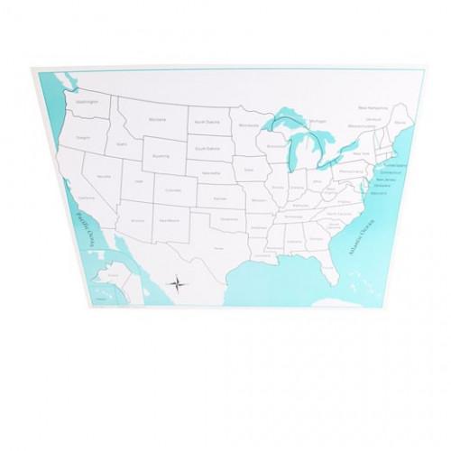 Kontrolní mapa USA