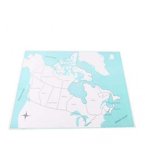 Kontrolní mapa Kanada